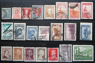 Stamps, ARGENTINA, 1885-1955 selection as scan