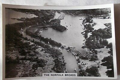 BRITAIN FROM THE AIR.  Senior Service cigarette card No. 48. The Norfolk Broads