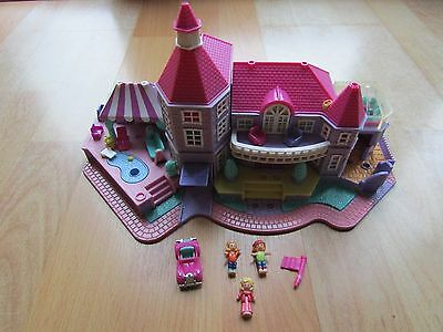 Vintage Bluebird Polly Pocket 1994 Light Up Magical Mansion With Car And Figures