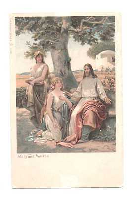 Vintage Postcard – Mary And Martha – Religious – The Knight Series