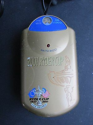 2001 Ryder Cup Pocket Radio with Earphones