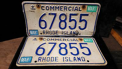 1 set/Pair of RI License Plates commercial# 67855