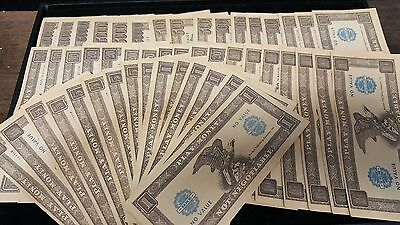 lot of Vintage 1960's Western Publishing Company Play Paper Money/Notes
