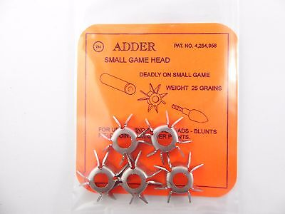 ADDER Small Game Head Bow Hunting, Archery Hunting Heads, compound,recurve bows
