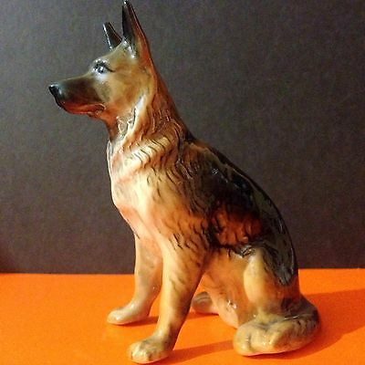 German Shepherd Dog porcelain figurine realistic Souvenirs Russia hand painted