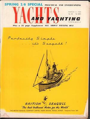Spring Special 1960 Yachts & Yachting Magazine dinghy sailing ship ads boats