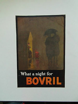 BOVRIL ORIGINAL VINTAGE COLOUR ADVERT DATED c 1950  17cm x 26cm
