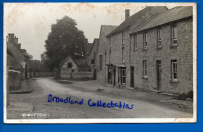 Old Uk Rp Postcard - Wootton Oxfordshire Oxon Nr Chipping Norton Oxford Bicester