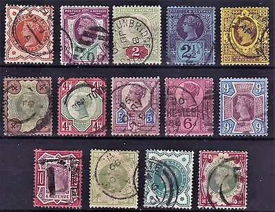 SG197 - SG214 FULL SET of 14 Jubilee Stamps. Very Fine Examples. CV £380.00 (1)