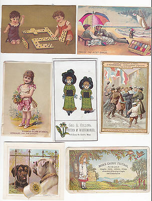 lot of victorian trade cards 1