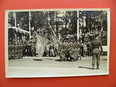 WW2: Berlin, Allies Victory Parade, US soldiers, Stars & Stripes flag, 1945, RP