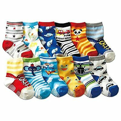 Baby Socks Anti Skid Slip Cotton Socks for 12-36 Months Kids 6 Pairs