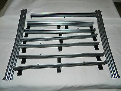 Scalextric Sport Digital Track, 9 x Silver Barrier Fences & Clips