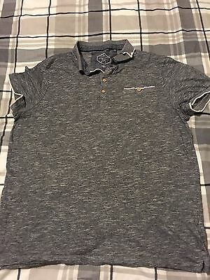 Grey polo shirt, Mens, New Look, size M, 100% cotton.