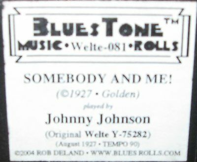 """Welte Recut """"somebody And Me"""" Played By Johnny Johnson Recut Piano Roll"""
