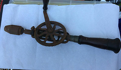 Vintage Rosewood Handle  Hand Drill