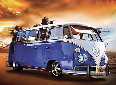 Blue VW 1 Wall Mural Photo Wallpaper Giant Decor Paper Poster