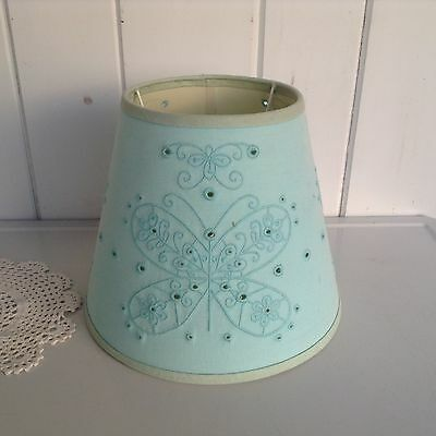 Butterfly Lamp Shade Turquroise Blue Eyelet Slip Uno Fitter