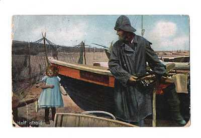 Vintage Greetings Postcard – Child With Fisherman - Knights Series – Dated 1905