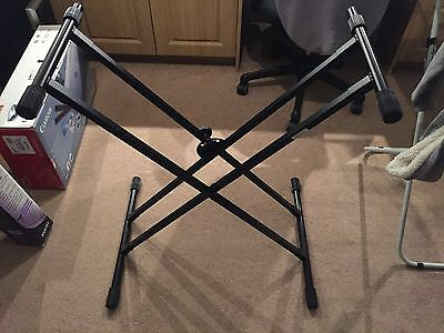 on-stage classic double x keyboard stand