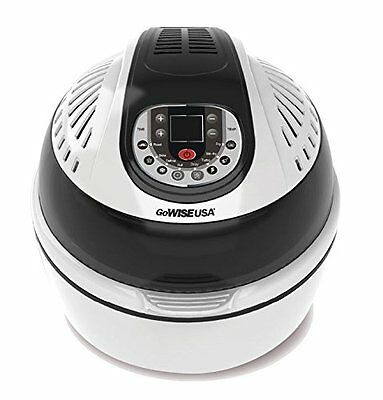 GoWISE USA Electric Programmable Turbo Air Fryer w/ Wide Temperature Range,
