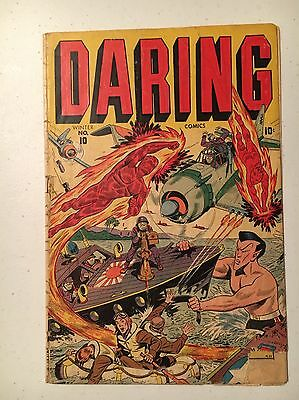 Daring Comics #10 (Winter 1944-1945, Marvel) GD Condition! Missing Centerfold!