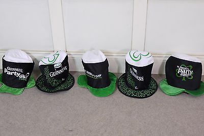 5x Collection Vintage Guiness St Patricks Party Hats 2004-2007 Bundle Pub Bar