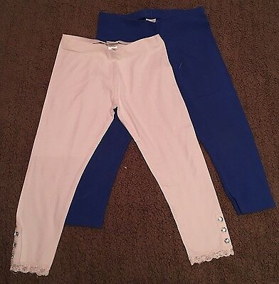 2x Girls 3/4 Leggings From Next - Age 11 (VGC)