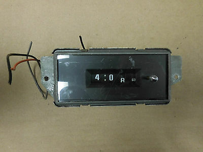 "1976 Buick Electra Mechanical Digital ""Chronograph"" Type Clock"