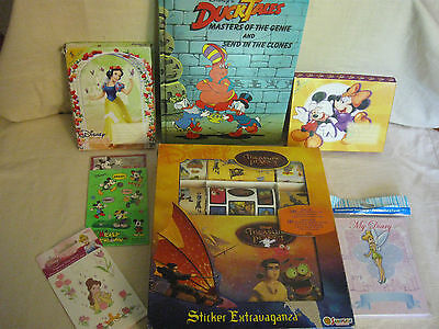 Lot Of Disney Stickers, Books And Pop-Up Cards - Treasure Planet, Snow White