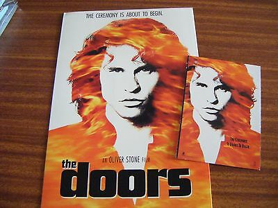 Vintage Doors Film Front Of House Souvenir Brochure And Post Card Val Kilmer