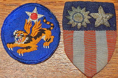 FLYING TIGERS First American Volunteer Group AVG RARE Chinese Air Force PATCHES