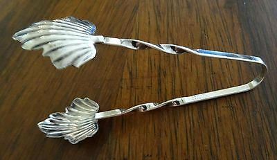 Raimond Sterling Silver Leaf Grabber Sugar Tongs Partially Twisted Handles
