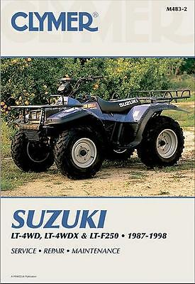 Suzuki LT-4WD, LT-4WDX, LT-F250, QuadRunner, King Quad ATV 1987 - 1998 Manual