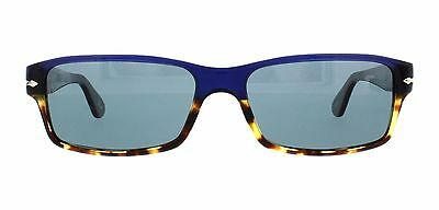 NWT Persol Sunglasses PO 2747S 955/4N Polarized Havana Blue/Blue 57 mm 9554N NIB