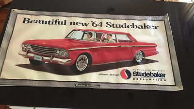 Studebaker 1964 Daytona Outdoor Billboard Banner Cruiser Hawk Lark Commander