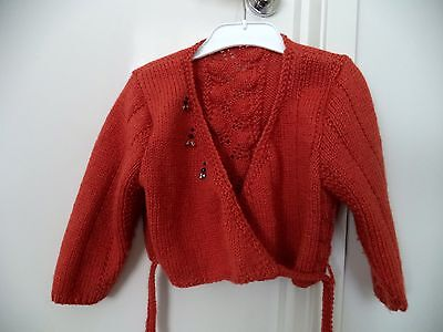 Girls' Knitted Ballet / Dance Crossover Cardigan