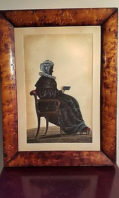 Antique 19th Cntry, 1822-45 Silhoutte Painting/The Hubard Gallery Embossed Label