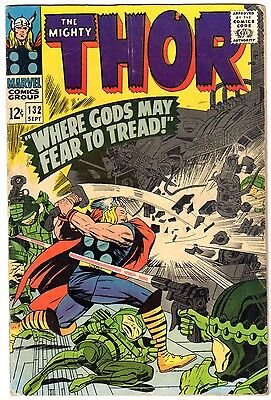 Thor 132 VG condition 1st Appearance of Ego the Living Planet