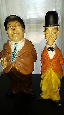 Rare Vintage Laurel and Hardy Figurines, Universal Statuary, 1971