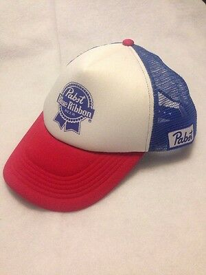 NEW Pabst Blue Ribbon Beer VINTAGE SNAPBACK AUTHENTIC Large Size Trucker Hat
