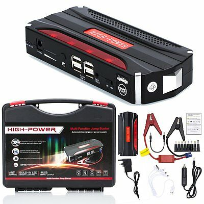 Heavy Duty 68800 mAh Starters Car Emergency Charger Jump Starter USB Power Bank