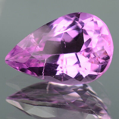 4.28 Ctw Flawless Luster Pear Cut Gem in auction Natural Kunzite