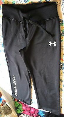 Boys Kids Black Under Armour Sweatpants White Lettering Youth M W24/l27 Perfect