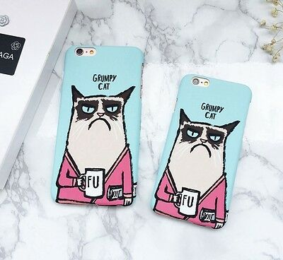Newest Cartoon Animal pattern  Grumpy cat Case Cover For  iPhone 6/6S/7 Plus