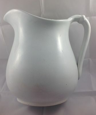 Antique White Ironstone Pitcher Jug Royal Ironstone China Warranted