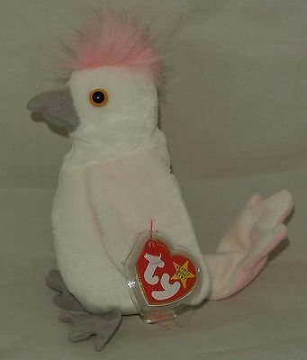 Ty Beanie Baby KUKU the Cockatiel Bird RETIRED - USA SELLER