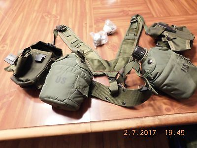 Vintage  US Army Belt w/ Canteens and Ammo Pouches