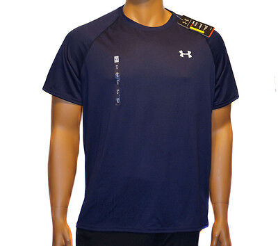 Under Armour Men's Large Shirt Heat Gear Loose Athletic Fit Short Sleeves NEW