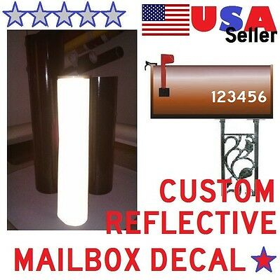 "3M Kit Of 2 Custom Mailbox Street Numbers 3"" HIGH,Traffic Grade Reflective Vinyl"